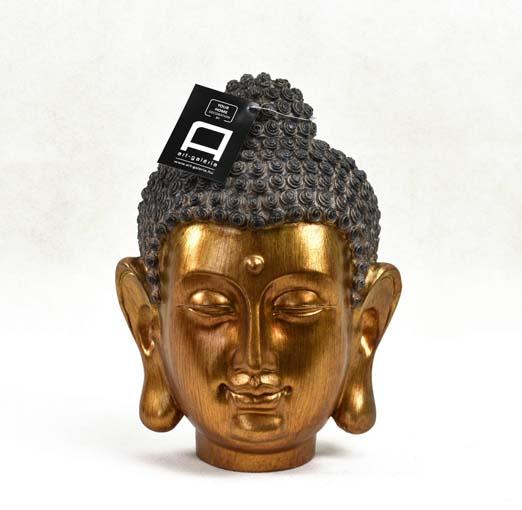 Arany Buddha fej - szobor