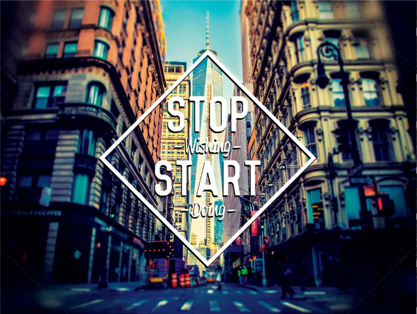 Start - motivációs vászonkép