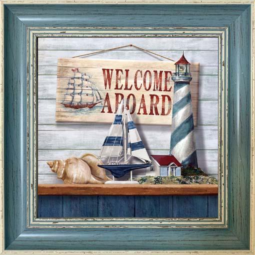 Welcome aboard - keretezett olajfestmény