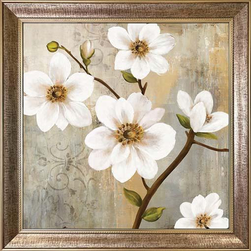 Újabb virágok - keretezett olajfestmény