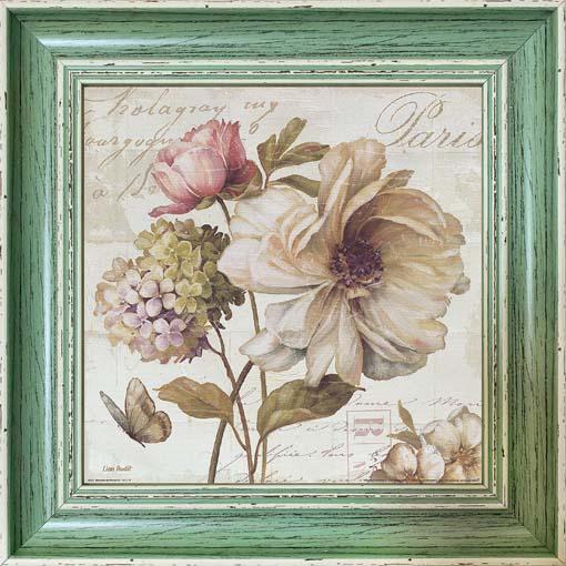 Virág kompozíció - keretezett olajfestmény