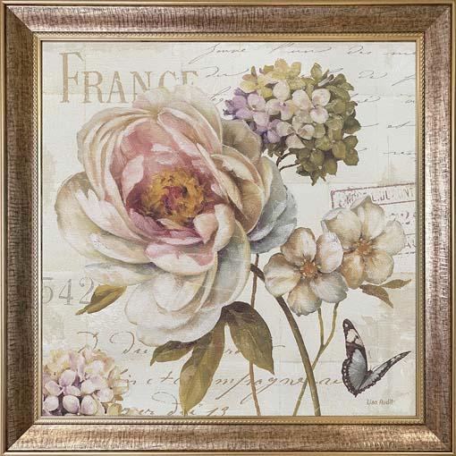 Francia szépség - keretezett olajfestmény